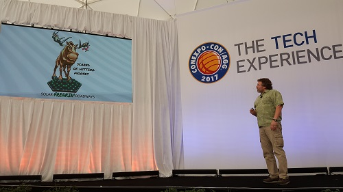 Scott talking at ConExpo.